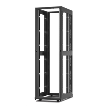 APC NetShelter AV 42U 600mm Wide x 825mm Deep Enclosure 10-32 Threaded Rails No Sides/Roof/Doors Black