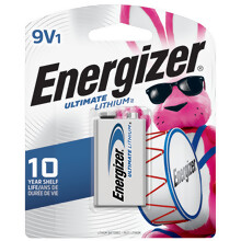 L522BP <i>Energizer</i><sup>®</sup> Ultimate Lithium<sup>™</sup> 9V-1 pack