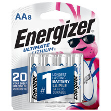 <i>Energizer</i><sup>®</sup> Ultimate Lithium<sup>™</sup> AA-8 pack (L91BP-8)