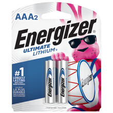 L92BP2 <i>Energizer</i><sup>®</sup> Ultimate Lithium<sup>™</sup> AAA-2 pack