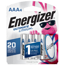 <i>Energizer</i><sup>®</sup> Ultimate Lithium<sup>™</sup> AAA-4 pack (L92BP-4)