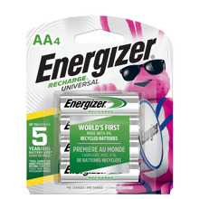 <i>Energizer</i> Recharge<sup>®</sup> Universal AA-4 pack (UNH15BP-4)