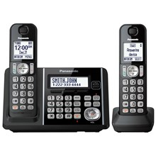 Panasonic Expandable Cordless Phone with Call Block and Answering Machine - 2 Handsets - KX-TG3752B