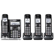 Panasonic Link2Cell Bluetooth® Cordless Phone with Answering Machine - 4 Handsets - KX-TGF574S
