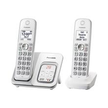 Panasonic Expandable Cordless Phone with Call Block and Answering Machine - 2 Handsets -KX-TGD532W