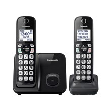 Panasonic Expandable Cordless Phone with Call Block - 2 Handsets - KX-TGD512B