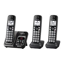 Panasonic Link2Cell Bluetooth® Cordless Phone with Voice Assist and Answering Machine - 3 Handsets - KX-TGD563M