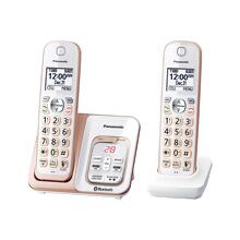 Panasonic Link2Cell Bluetooth® Cordless Phone with Voice Assist and Answering Machine - 2 Handsets - KX-TGD562G