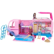 Barbie CAMPING-CAR TRANSFORMABLE (FBR34)