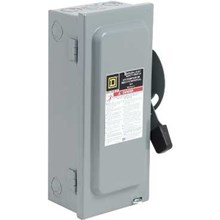 Schneider Electric General Duty Safety Switches 60A 2P Type1 120/240VAC General Duty Safety Switch with Solid Neutral