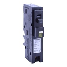 Schneider Electric HomeLine Combination Arc Fault Circuit Interrupter HOMELINE CIRCUIT BREAKER 120V 15A 1P PLUG-ON CAFI