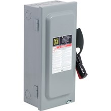 Square D Heavy Duty Safety Switches 30A 3P Type1 600VAC/DC Heavy Duty Non-Fusible Safety Switch
