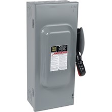 Square D Heavy Duty Safety Switches 100A 3P Type1 600VAC/DC Heavy Duty Non-Fusible Safety Switch