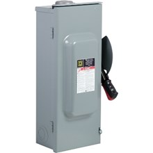Square D Heavy Duty Safety Switches 100A 3P Type3R 600VAC/DC Heavy Duty Non-Fusible Safety Switch