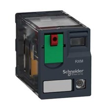 Schneider Electric Zelio Relay - Electromechanical Miniature Plug-in relay - Zelio RXM  2 C/O  120 V AC  12 A  with LED
