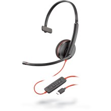Plantronics Blackwire 3200-Serie Blackwire 3210, USB-C Black