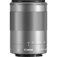Canon EF-M 55-200mm f/4.5-6.3 IS STM Lens - Silver