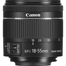 Canon EF-S18-55mm f/4-5.6 IS STM Canon EF-S 18-55 mm f/4-5.6 IS STM Lens - Black