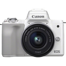 Canon EOS M50 White + EF-M 15-45mm IS STM Lens Silver