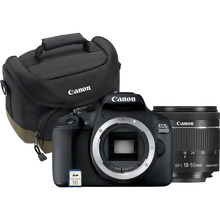 Canon EOS 2000D Black + EF-S 18-55mm IS II Lens + Shoulder Bag + SD Card