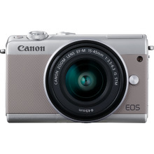 Canon EOS M100 Grey + EF-M 15-45mm f/3.5-6.3 IS STM Lens Silver + irista 50GB