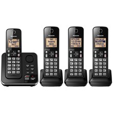 Panasonic Expandable Cordless Phone with Answering System - 4 Handsets - KX-TGC364B