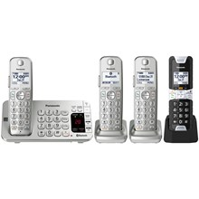Panasonic Link2Cell Bluetooth® Cordless Phone with Rugged Phone - 4 Handsets - KX-TGE484S2