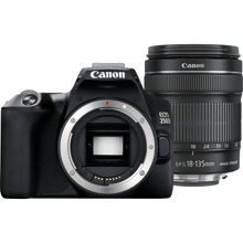 Canon EOS 250D Body, Black + EF-S 18-135mm f/3.5-5.6 IS STM lens