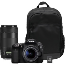 Canon EOS 90D + EF-S 18-55mm IS STM + EF 70-300mm IS II USM + Backpack + SD Card