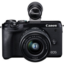 Canon EOS M6 Mark II + EF-M 15-45mm IS STM Lens + Electronic Viewfinder