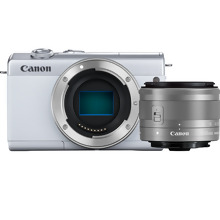 Canon EOS M200 Body - White + EF-M 15-45mm Silver