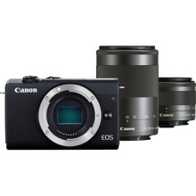 Canon EOS M200 Body - Black + EF-M 15-45mm + EF-M 55-200mm Lenses