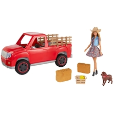 Barbie® Sweet Orchard Farm™ Doll, Vehicle and Accessories (GFF52)
