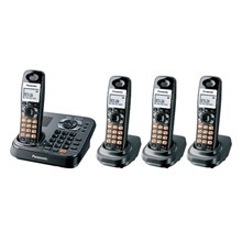 Panasonic KX-TG9344T G9344T DECT 6.0 Expandable Digital Cordless Answering System 4 Handset System