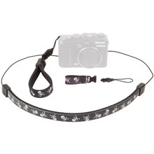 Op/Tech 3400221 Compact Strap Trio - Neck, Wrist & Finger Strap System for Compact Cameras & Other Gear - Black/White Skull Design