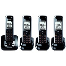 Panasonic KX-TG7434B G7434B DECT 6.0 Expandable Digital Cordless Phone System
