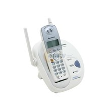 Panasonic KXTG2421W Range 2.4 GHz DSS Cordless Phone with Caller ID White