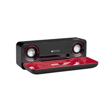 Sharp DK-AP7N Audio Docking System for iPod / MP3 / WMA Players â Red/Black