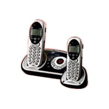 General Electric 21028GE3 2.4 GHz Dual Handset Cordless Phone With Digital Messaging, 210283