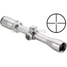 Bushnell 721393S 3-9x32 Sportsman Waterproof & Fogproof Riflescope 7.0-2.7 Degree Angle of View with Multi-X Reticle - Silver