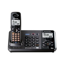 Panasonic KX-TG9381T 60 Expandable Cordless 2-Line Phone System with Digital Answering System - Black Metallic