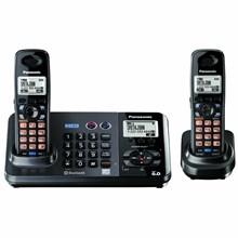 Panasonic KX-TG9382T 2-Line DECT 6.0 Expandable Digital Cordless Answering System with 2 Handsets