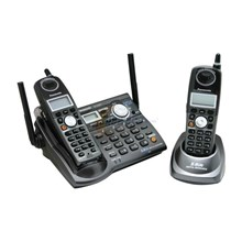 Panasonic KXTGA450B 5.8 GHz Expandable Digital Cordless Answering System with Dual Handsets