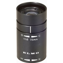 """Elmo 9250 T1675F 1/2"""" 7.5mm, f1.6 Fixed Focal Length Lens - for Micro Cameras"""