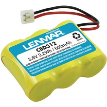 Lenmar CBD312 replaces AT&T GE Pac-Tel Phone Mate Sharp 3-1/2AA w/JST 3.6V