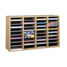 Safco 9424MO R Adjustable Wood Literature Organizers