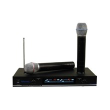 Hisonic HS8286 VHF Dual Rechargeable Wireless Microphone System, .