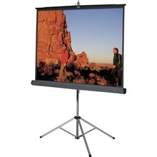 Da-Lite 76754 rpeted Picture King with Keystone Eliminator - projection screen with tripod - 120 in