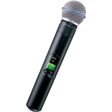 Shure SLX2/BETA58=-H5 SLX-2 Handheld Wireless UHF Transmitter with SM58 Cardioid Microphone Capsule H5/518 - 542MHz