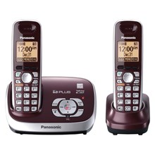 Panasonic KX-TG6572R DECT 60 Plus Expandable Cordless Phone System with Digital Answering Machine - Wine Red